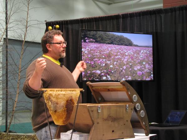 Charlie Koenen took his show - his antennae and BeePod - to home show at State Fair Park