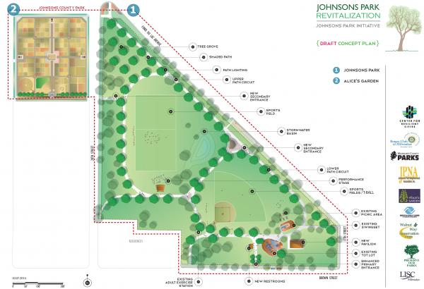 Proposed renovation plan for the 13.2 acre park.