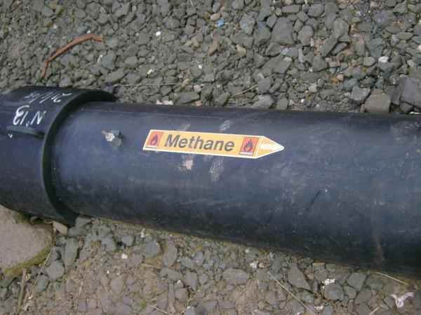 A methane pipe