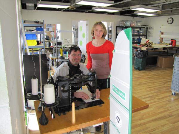 Olli and Melissa Marban in their new space in Hartland.