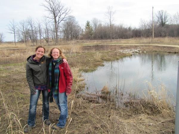 Mequon Nature Preserve's Kristin Gies (left) and Jessica Jens of the Riveredge Nature Center say the collaborative Earth Day event is the beginning of more joint ventures.