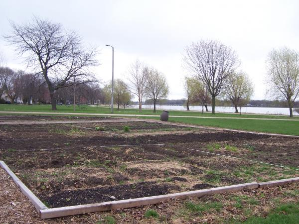 The Brittingham Community Garden sits on the shores of Madison's Lake Monona surrounded by a diverse, low-income neighborhood and expensive lakefront properties.