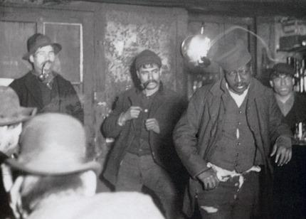 """The cover photo for Khalil Muhammad's book """"The Condemnation of Blackness"""" was taken by Richard Hoe Lawrence and depicting what was called """"A Downtown Morgue."""" It was included in Jacob Riis' """"How the Other Half Lives."""""""
