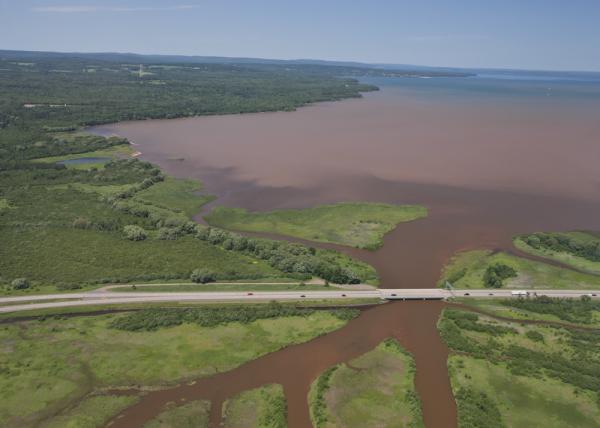 Eroding soils entering Lake Michigan