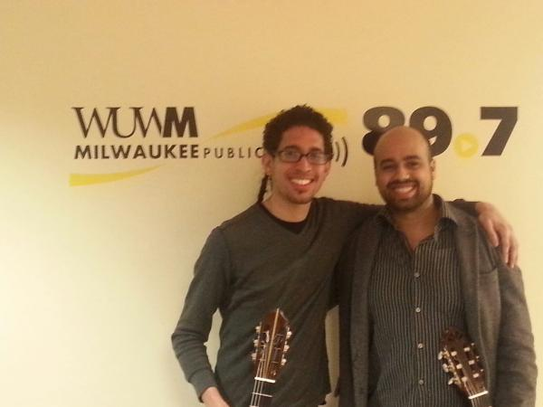 Hector Torres Gonzalez and John Ruiz are two students in the Fingerstyle Guitar Program at Peck School of the Arts.
