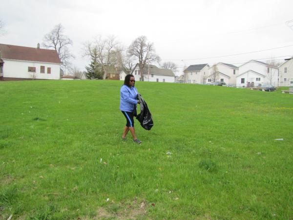 Venice Williams hopes to set up urban farm on this city parcel.