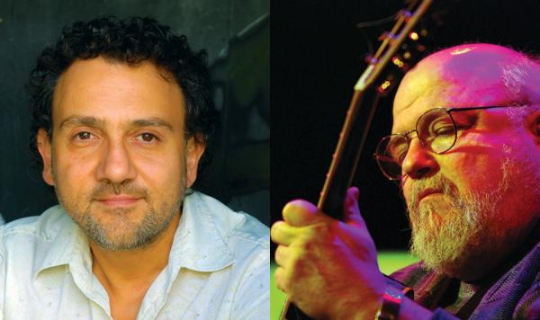 Guitarists Lucas Michailidis and Peter Lang performed at the Zelazo Center on May 1st.