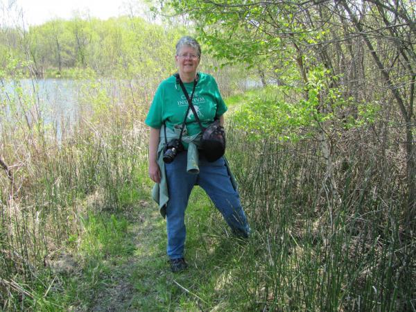 Kate Redmond prepares to guide Treasures of Oz visitors through the Cedarburg Environmental Study Area.