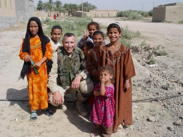 "Capt. Dan Buttery served in Iraq in 2003-2004. Part of his mission was to win the ""hearts and minds"" of local Iraqis."