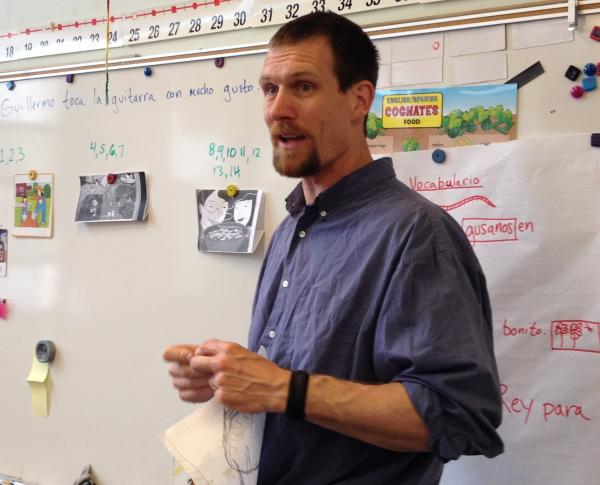 Dan Graves in his second grade classroom at Fratney at the end of the school year.