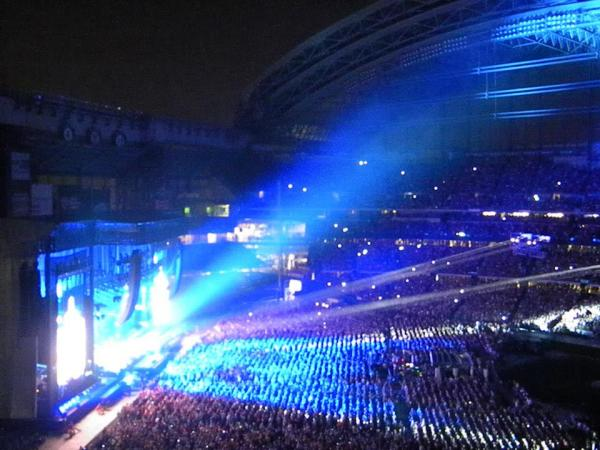 Paul McCartney, playing to a full house in Miller Park last July.