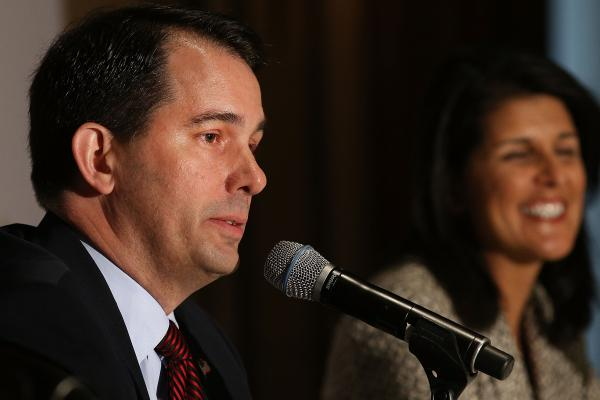 Wisconsin Gov. Scott Walker at the Republican Governors Association's quarterly meeting in May 2014.