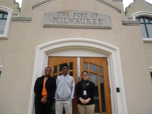 Three teens  are working at the Port of Milwaukee this summer as part of the Earn and Learn program