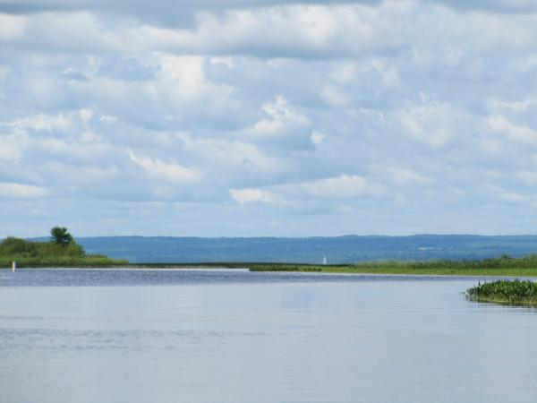 Where the Kakagon Sloughs meet Lake Superior's Chequamegon Bay north of the proposed mine.