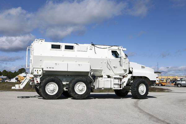 This MRAP vehicle is similar to trucks flowing to Wisconsin law enforcement agencies under the federal government's military surplus program.