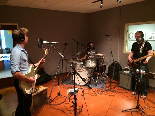 (l to r) Joe McIlheran, Kavi Laud, and Jeff Brueggeman in Studio C.