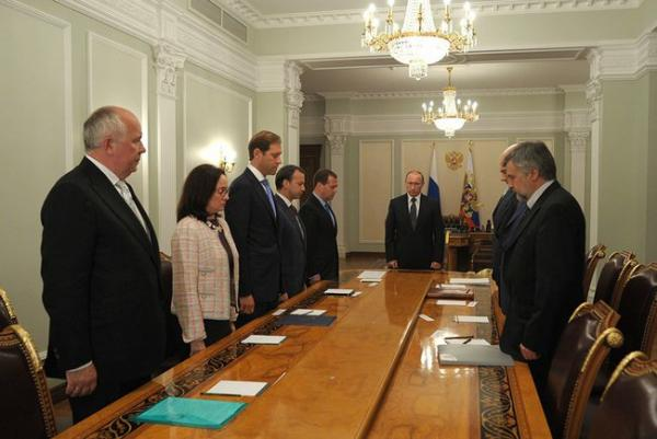 On July 18, 2014, President Putin's meeting on economic issues began with a moment of silence in honour of victims of plane crash over Ukrainian territory