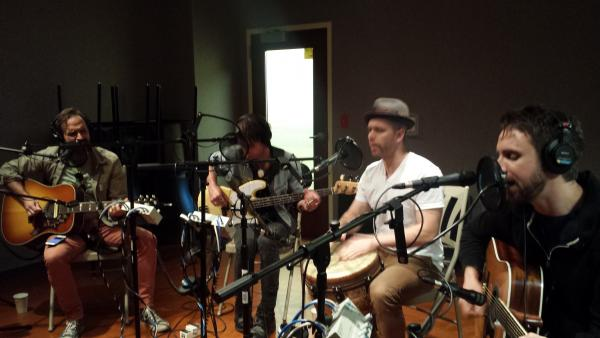 Canadian rock group, The Trews, performed in WUWM's Studio C1 before Summerfest.