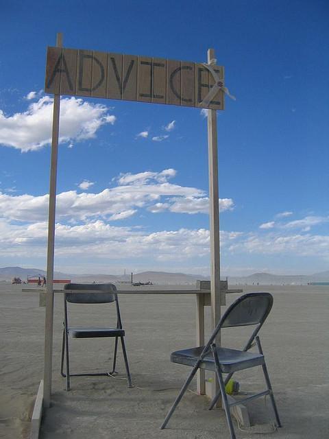 Everybody needs advice and to give advice, according to Linda Benjamin