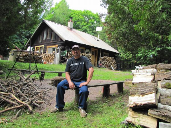 Russell Ray Buccanaro at his Penokee cabin.