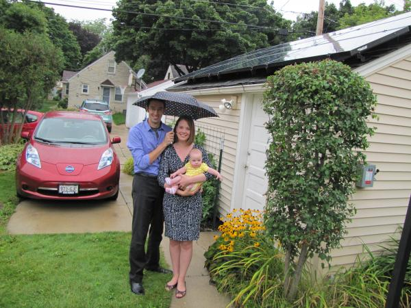 The Eichman family in Milwaukee were early solar installers.  They wanted to power up their electric car and offset their energy costs.