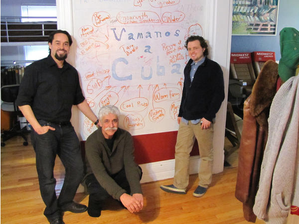 Ideas cover the white walls of Heart Haus Break Bread and Brainstorm (dining) room. Miguel Castro, James Godsil & Ben Koller.