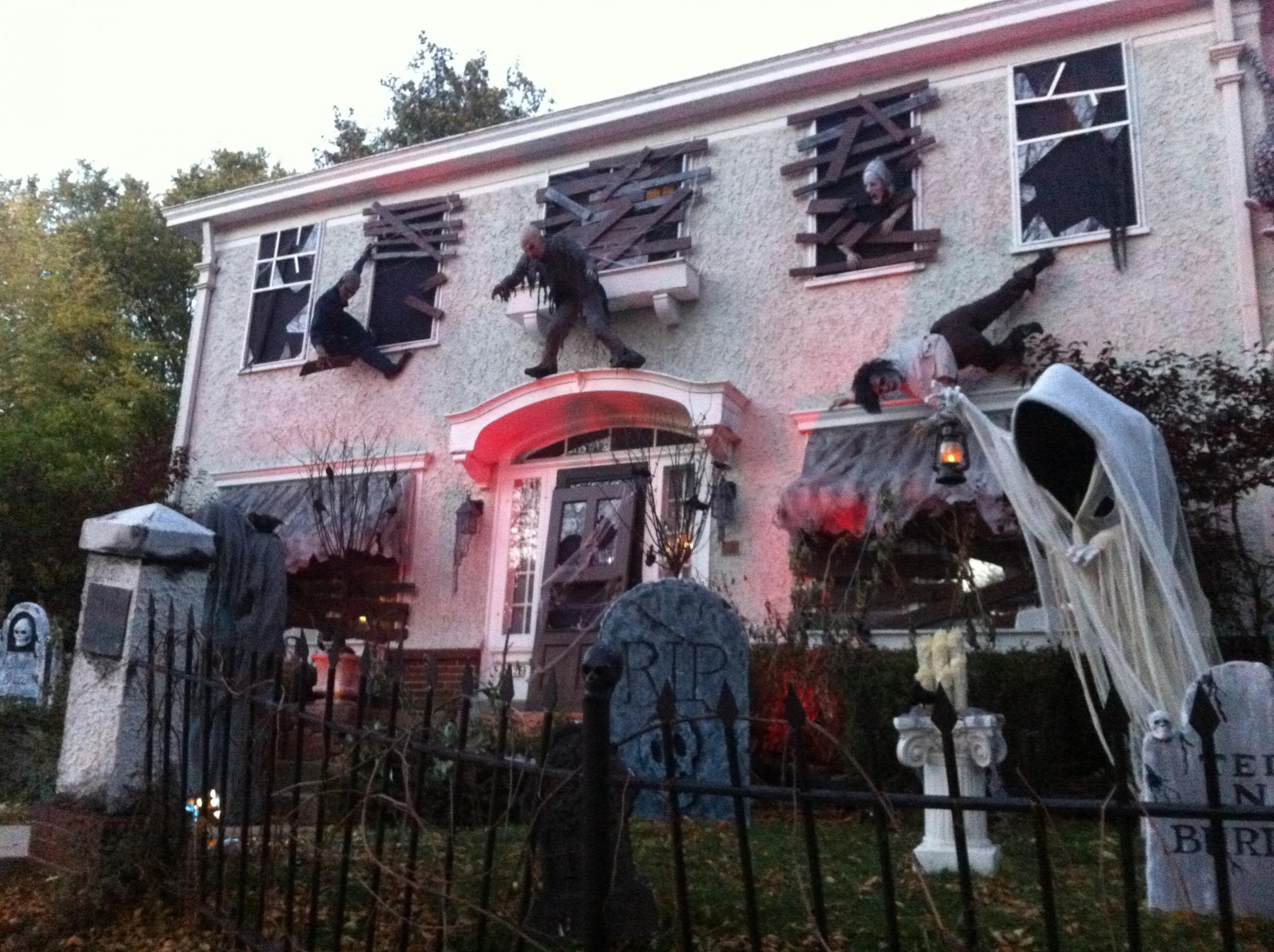 kyle chen and his family go all out when it comes to decorating their washington highlands home for halloween