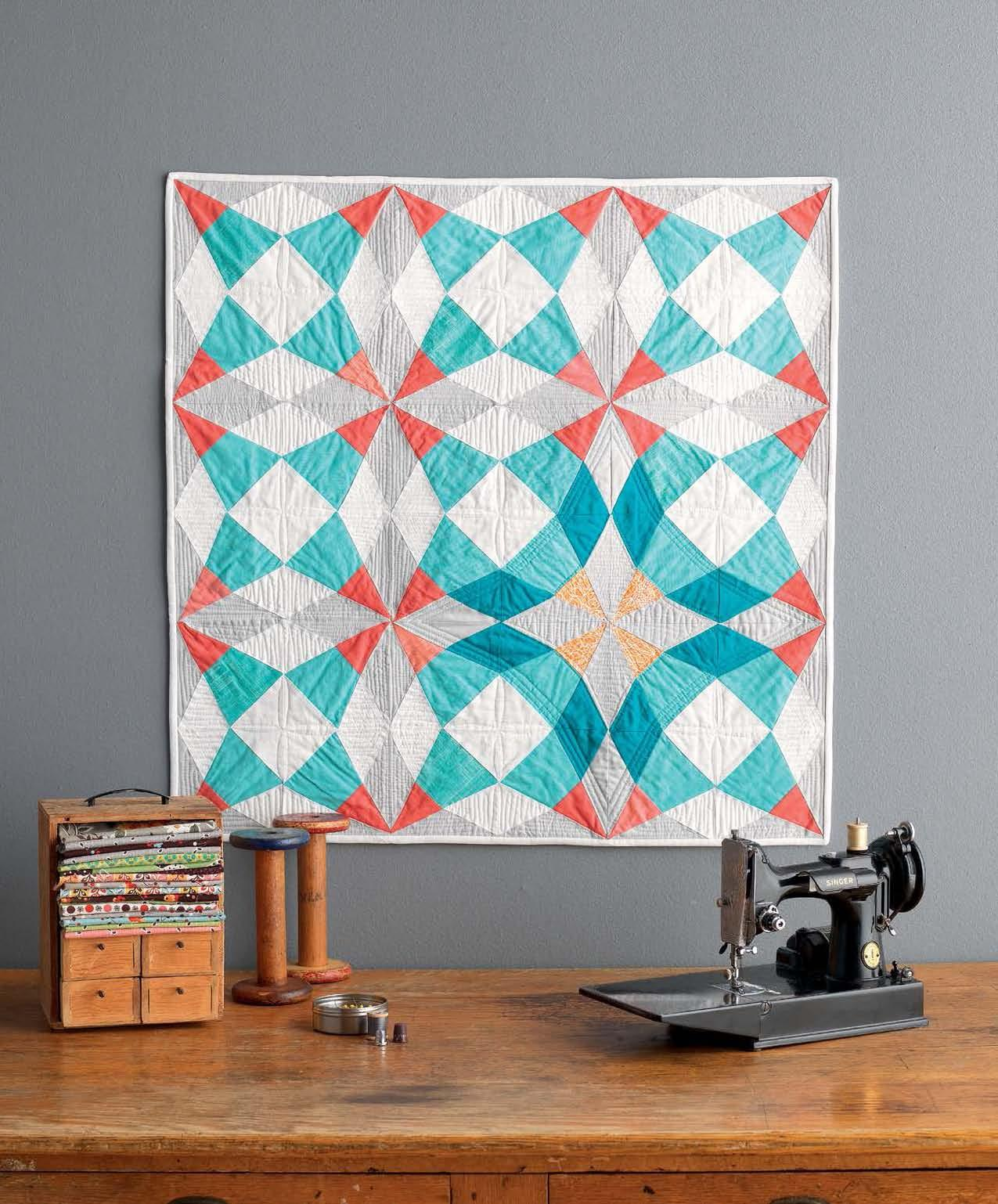 PHOTOS: Thoroughly Modern Quilters Update Traditional Patterns | WUWM : baby quilt patterns modern - Adamdwight.com