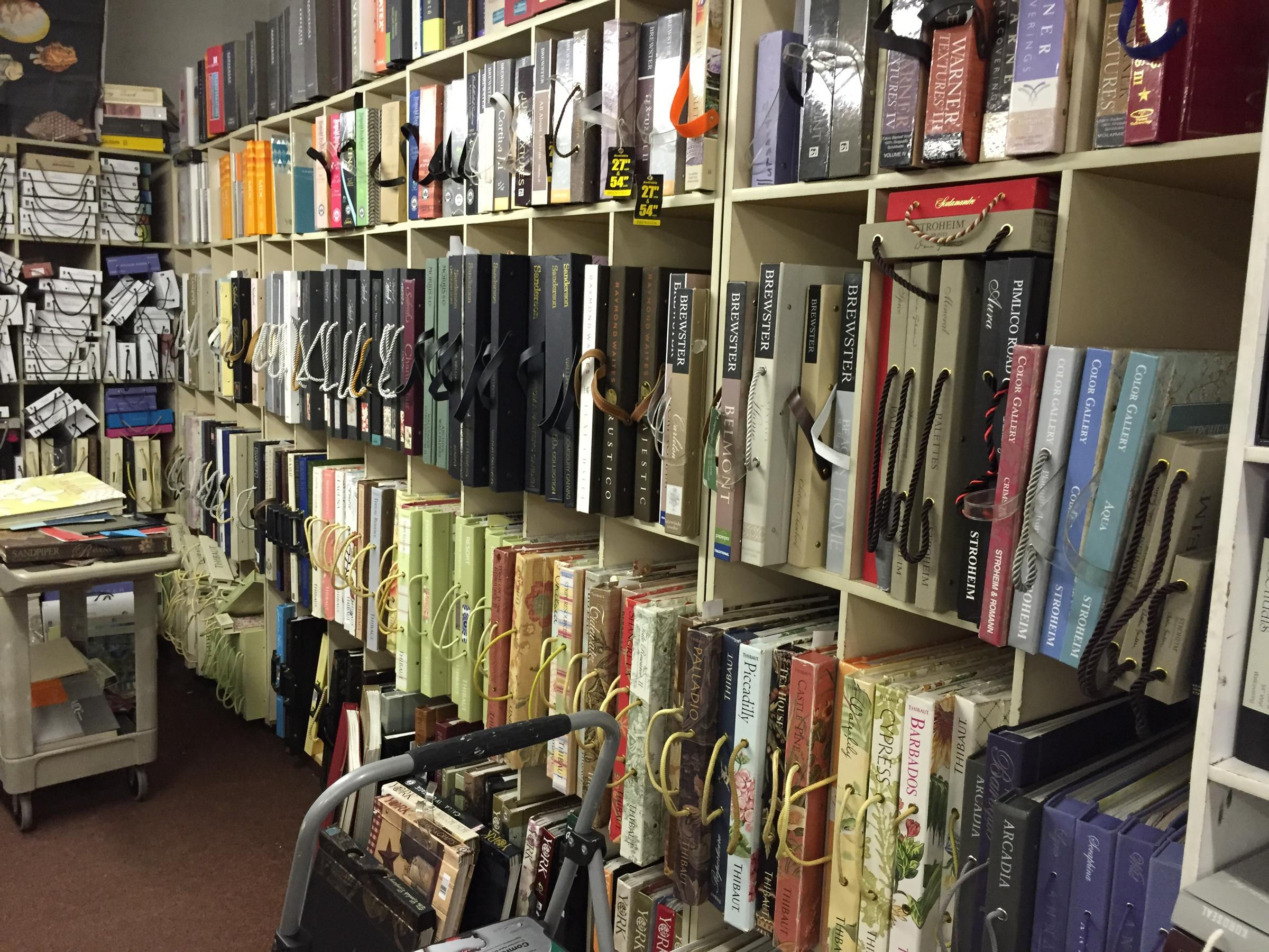 Shoppers can browse rows of sample books at Wallpaper Wallpaper in Wauwatosa, a shop that's operated for 30 years.
