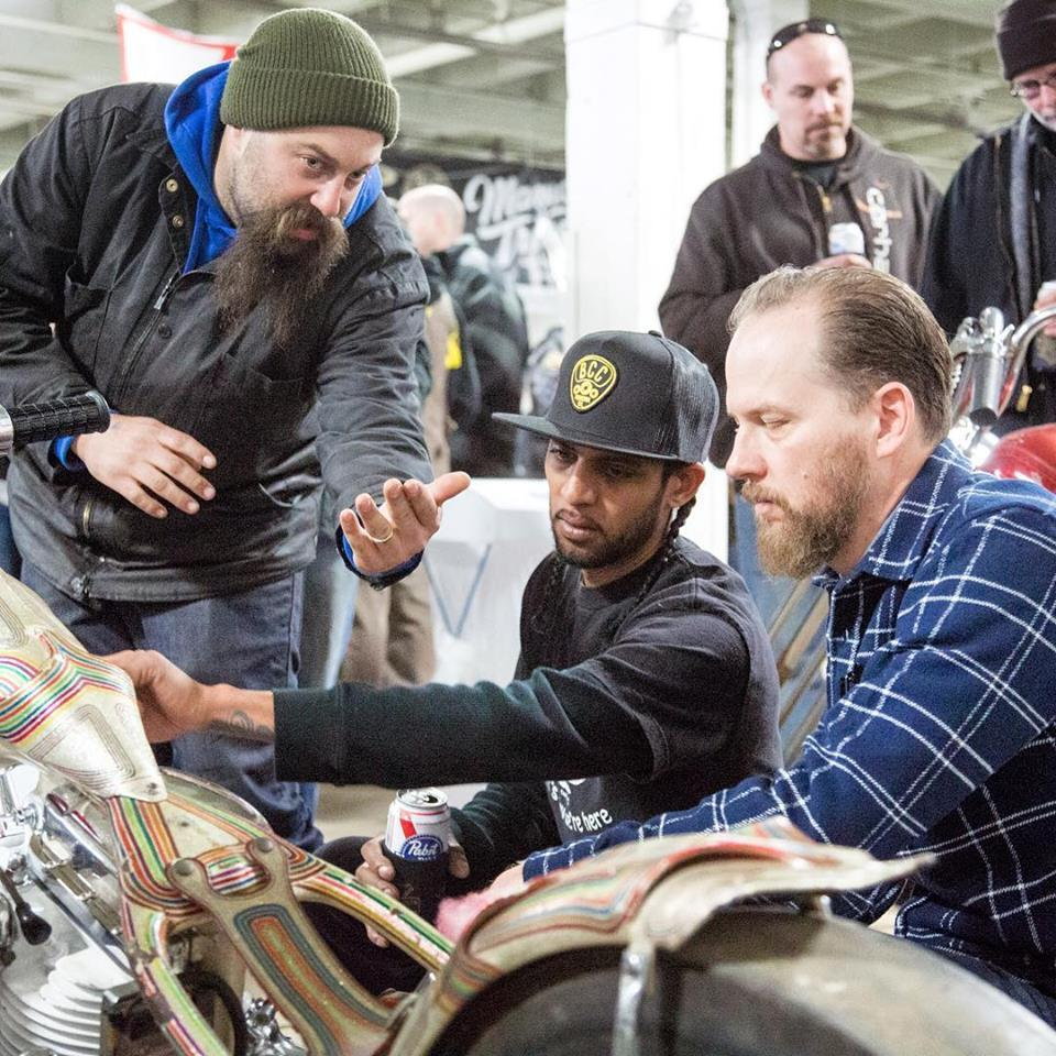 Motorcycle Enthusiasts Check Out The Dean Lanza Quicksilver At Last Years Motorcyle Show