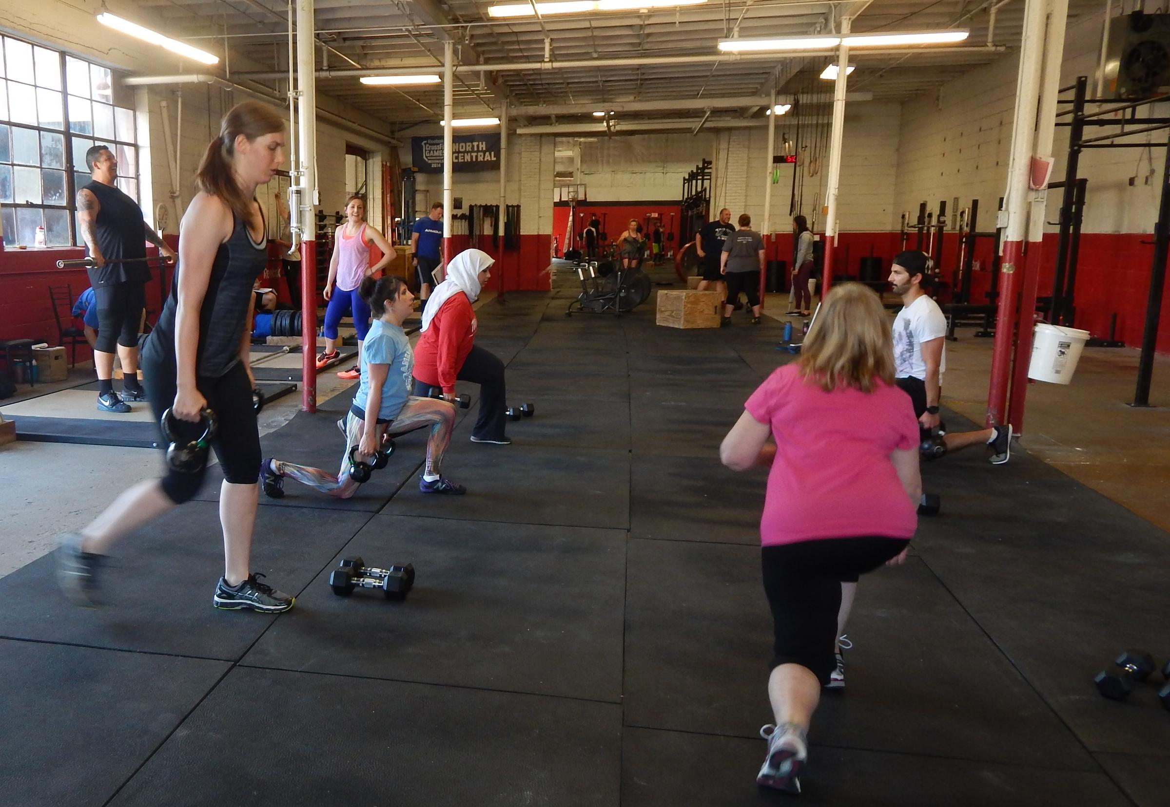 Fit For You Crossfit Wuwm Simple Circuit Training Lake Effects Audrey Nowakowski Left Participated In Badger Crossfits Function Class That Utilized Interval Exercises With Weights Such As Reverse