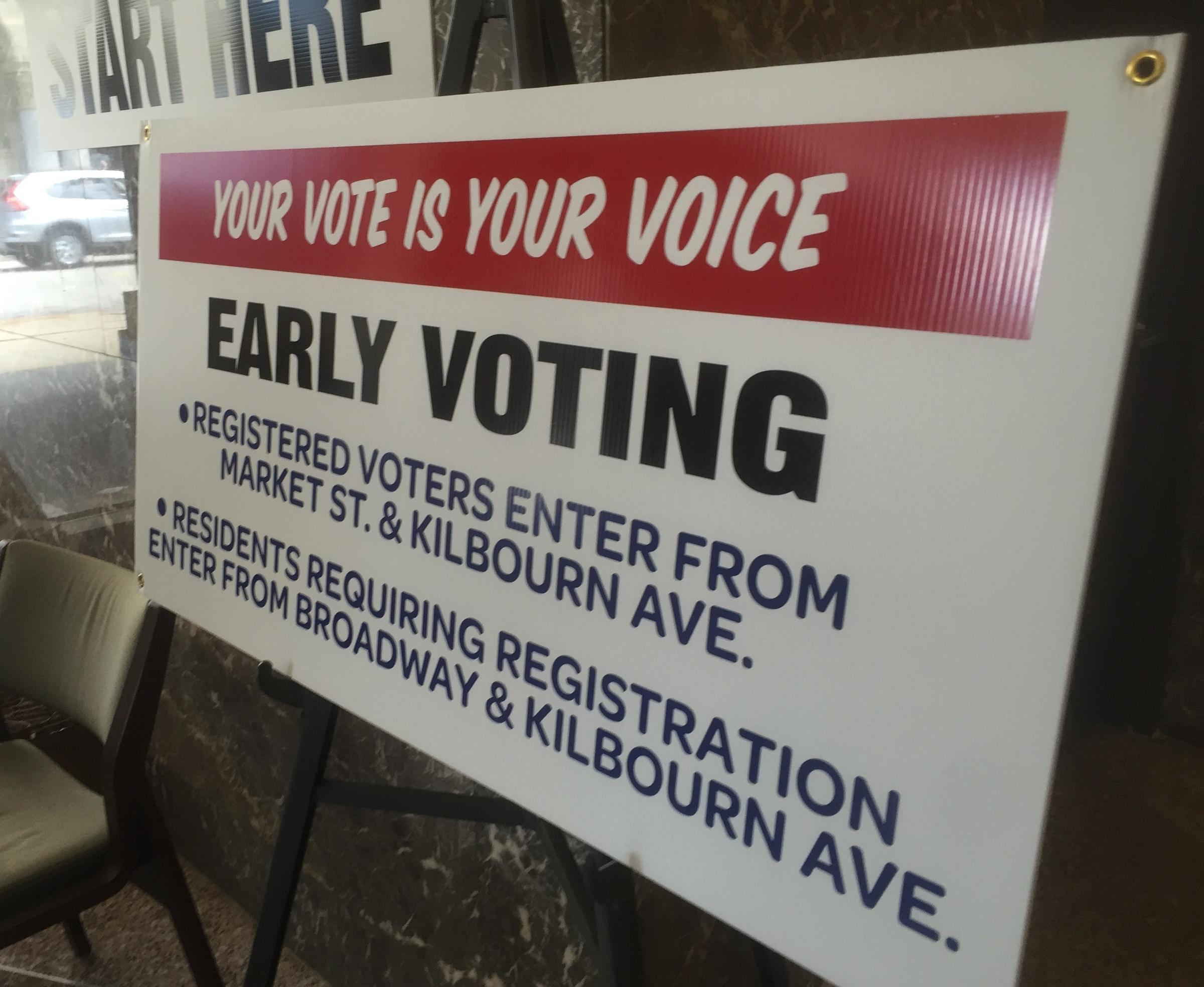 As early voting kicks off in wisconsin voters talk top issues wuwm in person absentee voting began in milwaukee monday aiddatafo Image collections