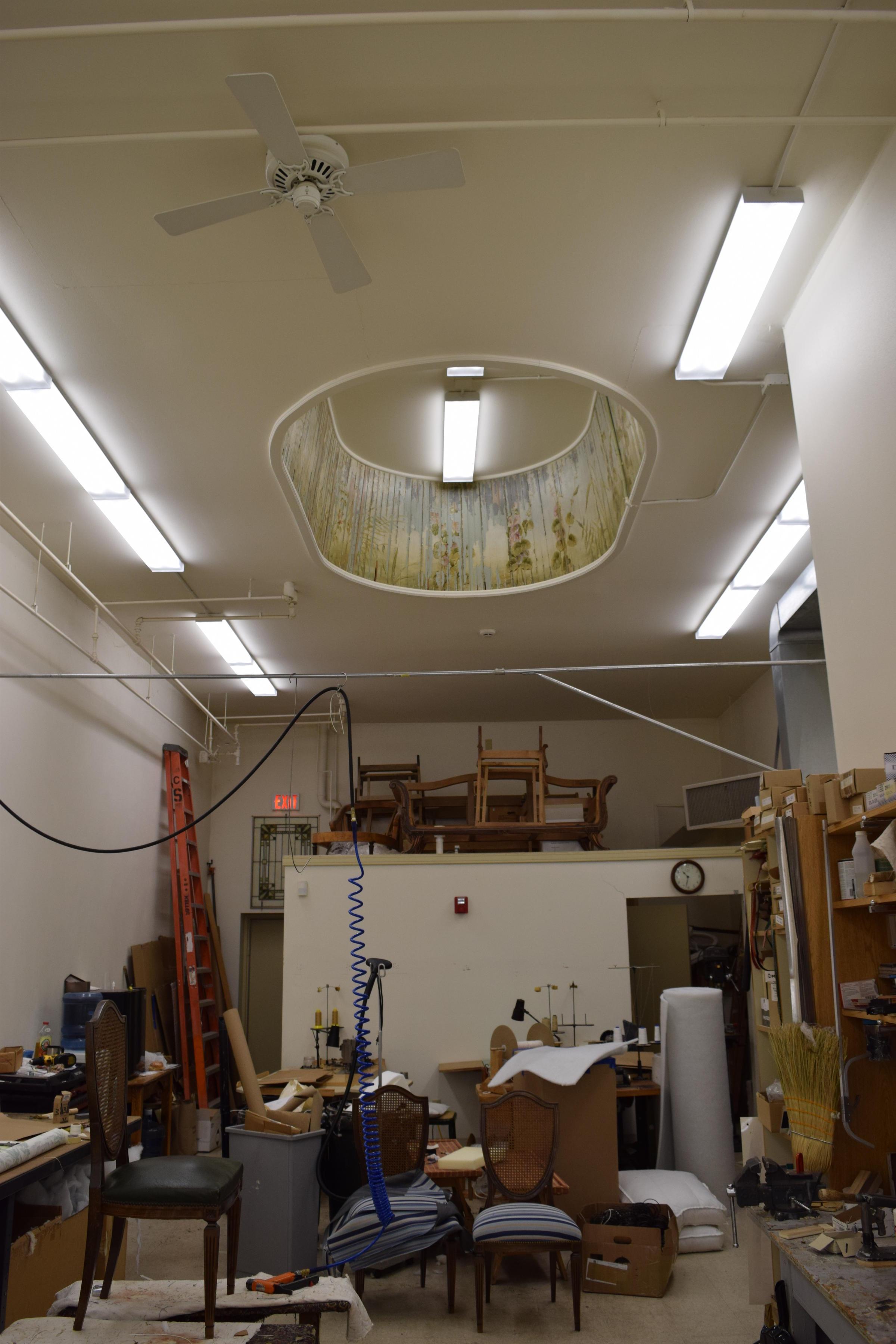 Interior Of Iannellis Custom Shoppe With Original Skylight In Ceiling