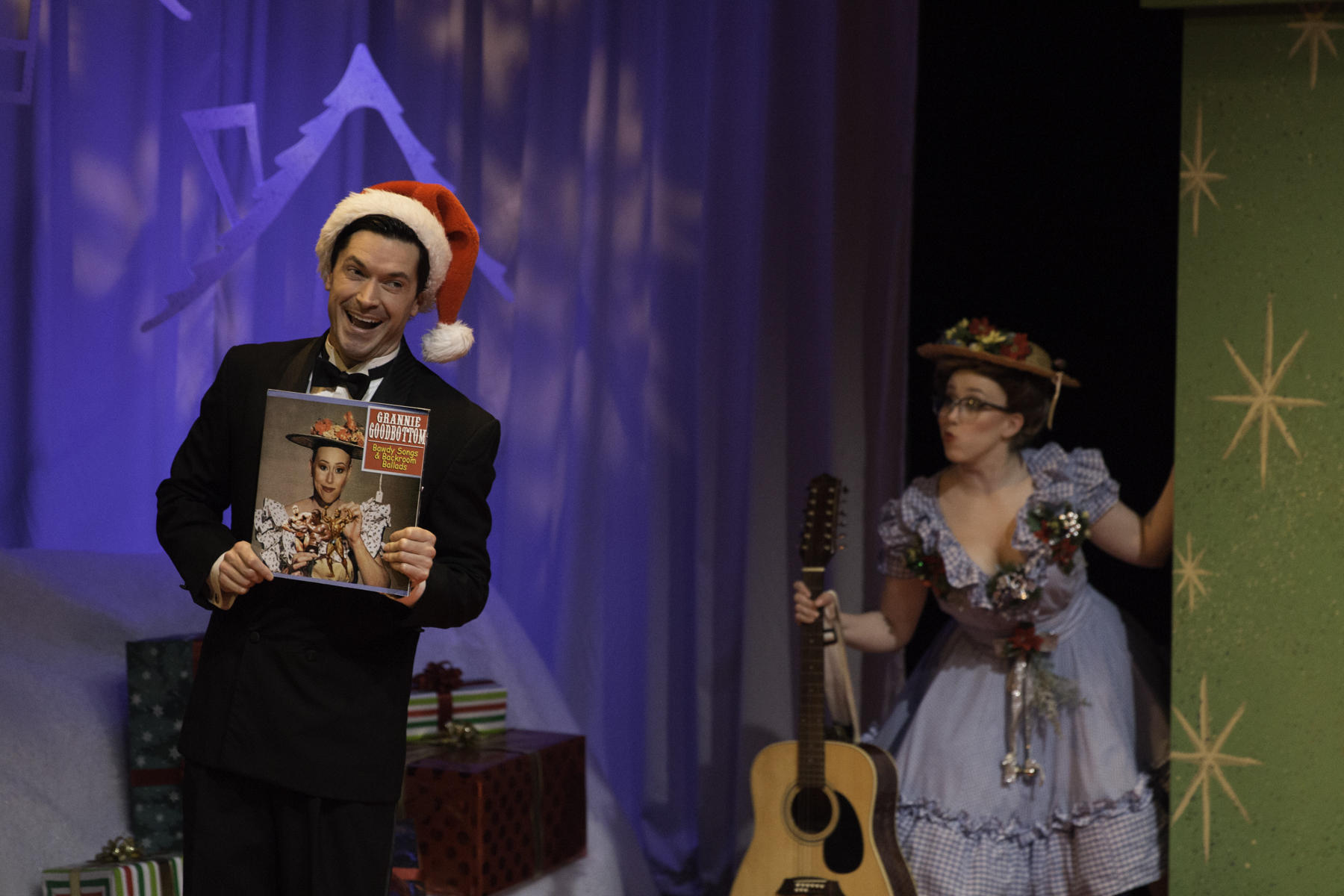 adam estes perry williams and samantha sostarich granny goodbottom - Classic Christmas Shows