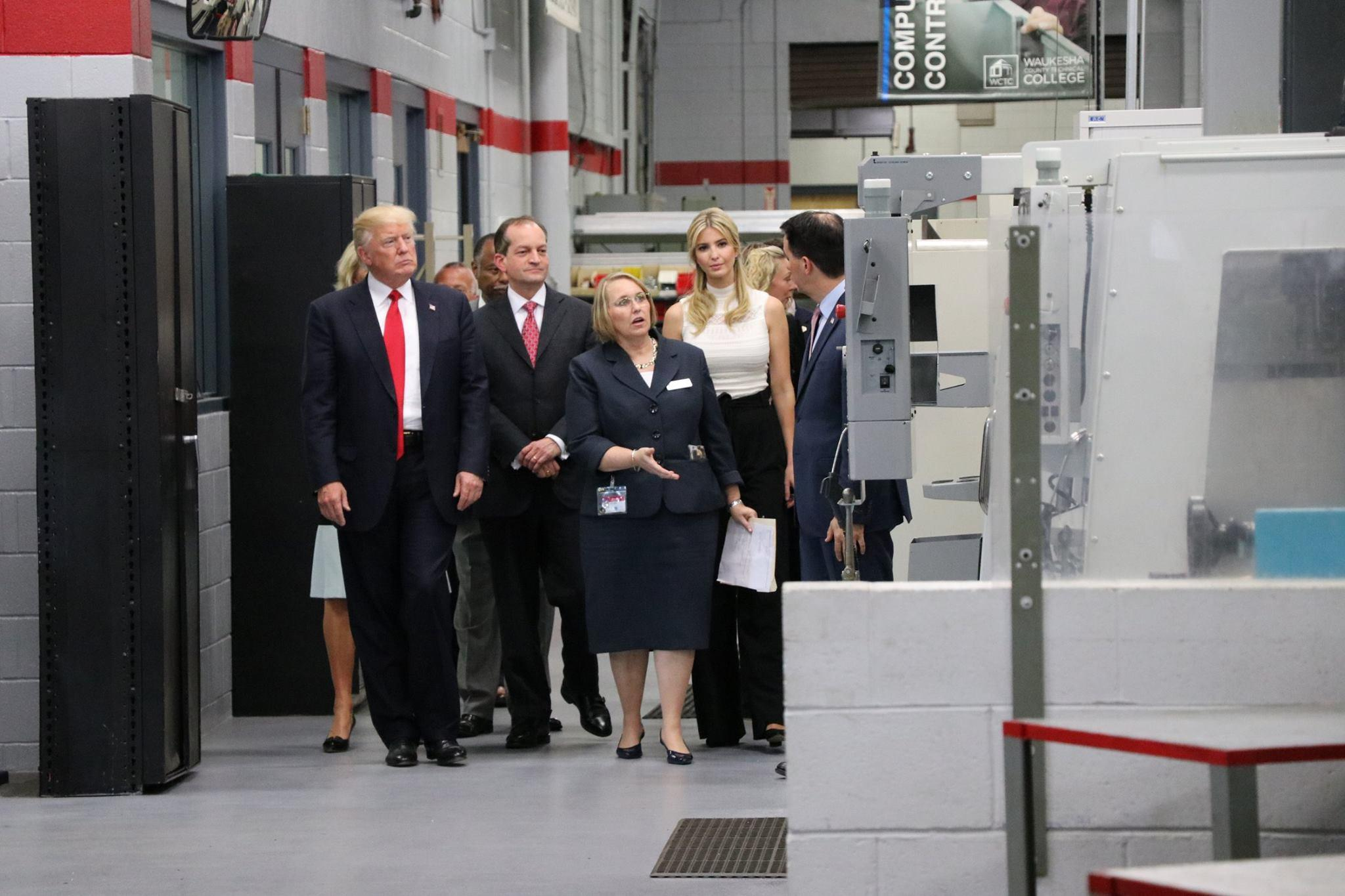 Trump making case for apprenticeships to fill jobs gap