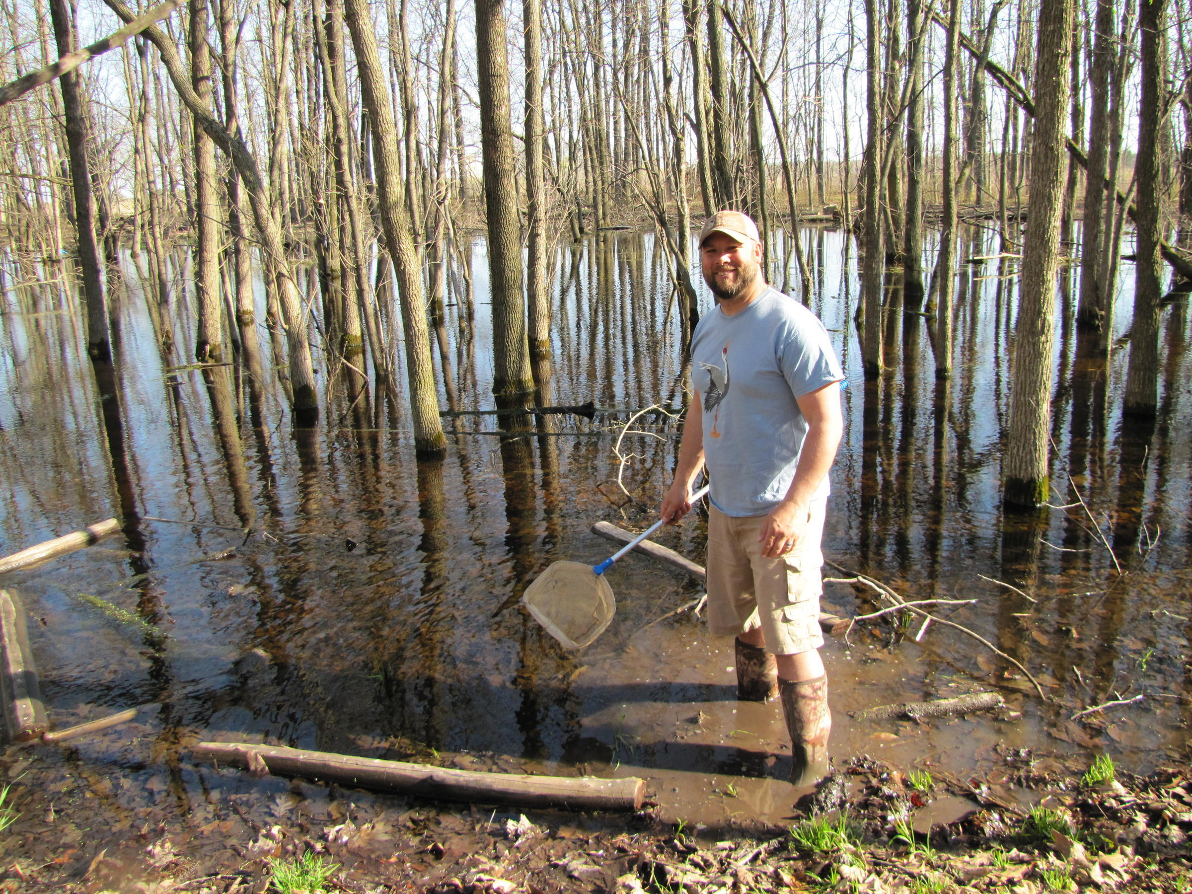 Jason Nickels At Pat S Pond Within Mequon Nature Preserve