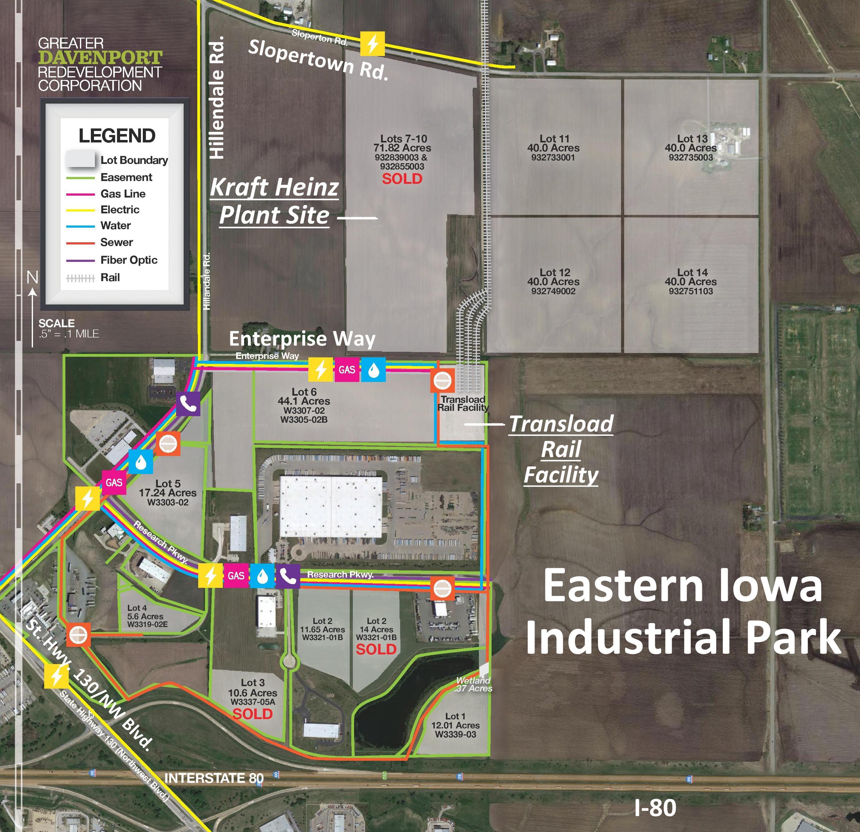 Work On New Road For Kraft Heinz Plant May Begin Soon WVIK - Map of eastern iowa