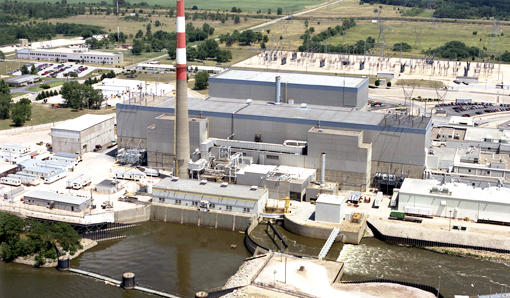 Quad Cities Generating Station at Cordova, Illinois.