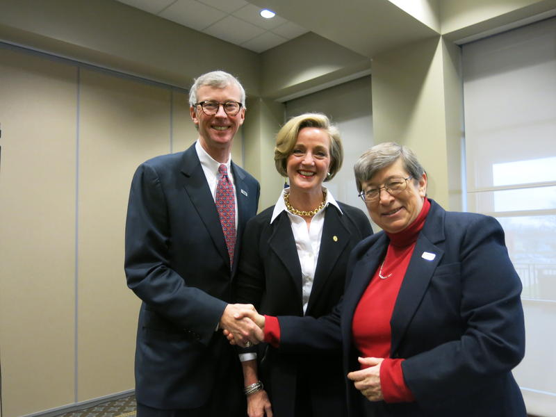 Two of the campaign co-chairs, Mike & Barbara Johnson, Sister Joan Lecinski