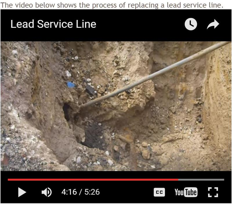 Screenshot of a video that shows how to replace a lead pipe