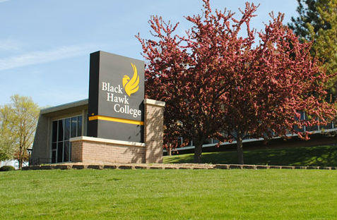 Black Hawk College's campus in Moline. Ill.