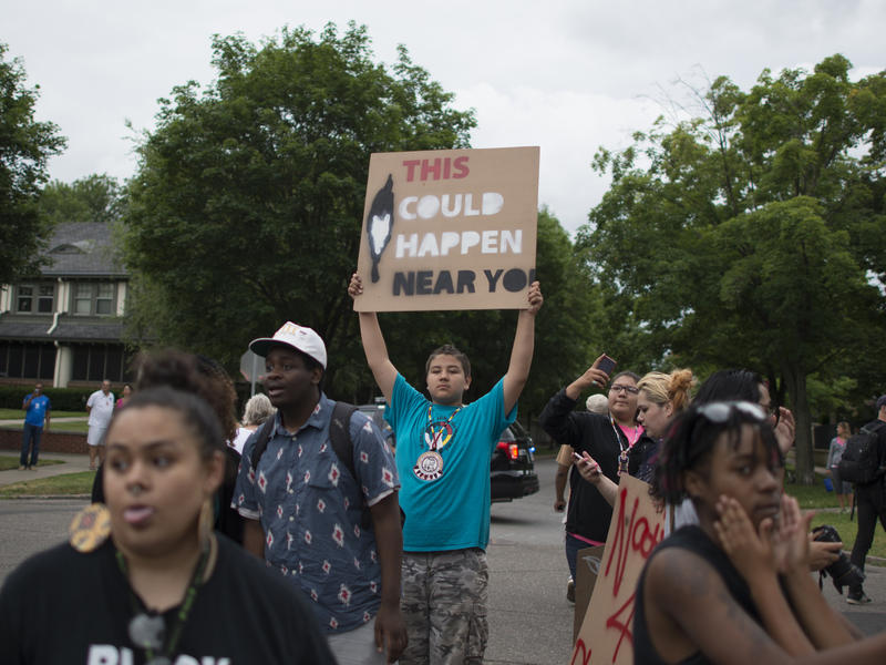 Protesters marched in St. Paul, Minn. following the death of Philando Castile.