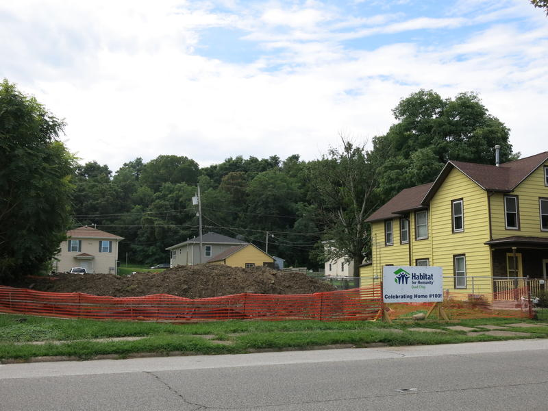 The lot where Habitat's 100th home will be built