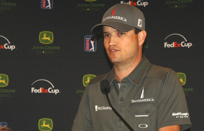 Zach Johnson addresses the media during the 2013 John Deere Classic.