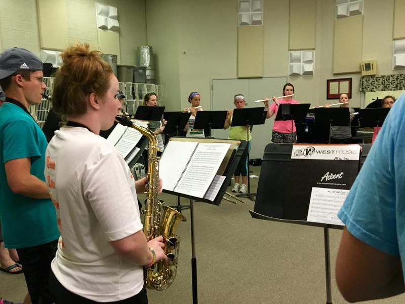 Thirty musicians are in the St. Ambrose athletic band.