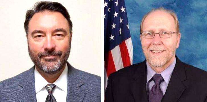 Peters (left) is challenging incumbent Loebsack (right)