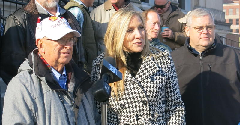 Bob Vogelbaugh (left), At-Large Ald. Stephanie Acri (center) & 2nd Ward Ald. Dave Parker (right)