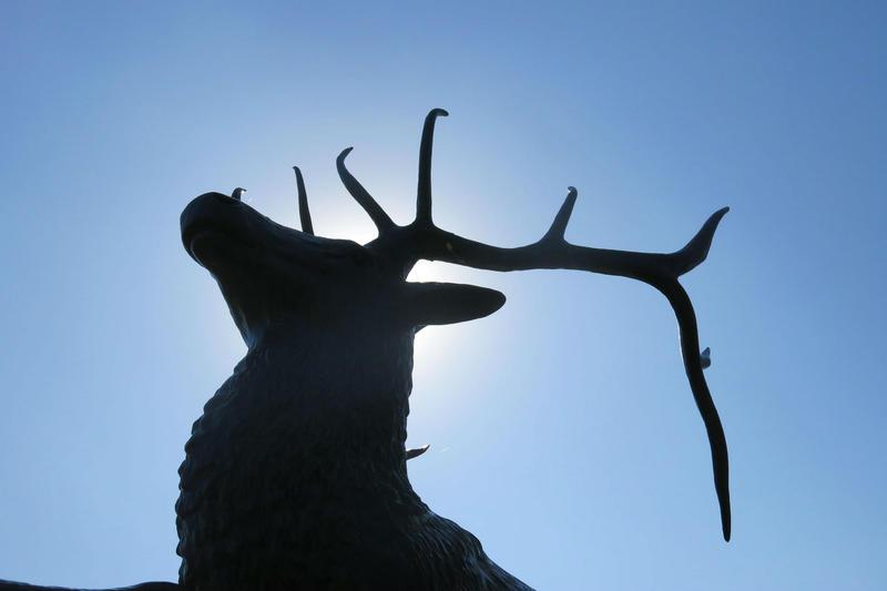 Bronze statue located outside Deere headquarters in Moline, IL