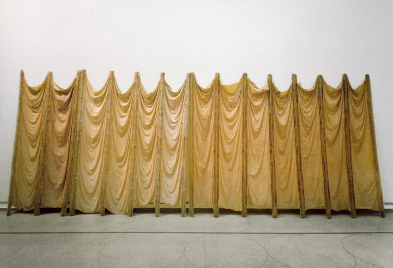 Eva Hesse, Expanded Expansion, 1969, Fiberglass, polyester resin, latex, and cheesecloth.