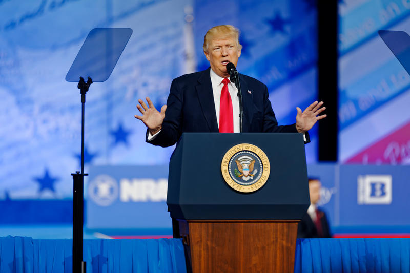 President Donald Trump at CPAC 2017 on February 24